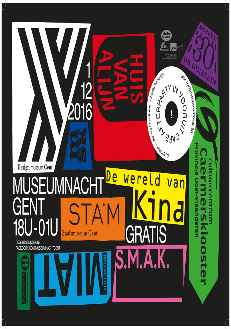 Musea Gent Museumnacht Poster
